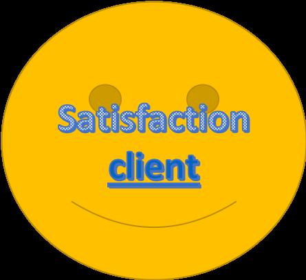 Satisfaction clients